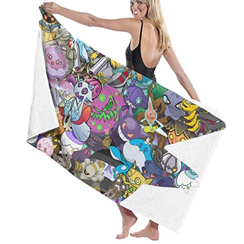 Ghost Pok-emon - Juego de toallas de playa para baño (80 x 130 cm)