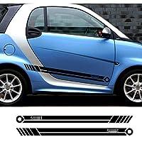 スマートフォーツーフォーツーフォーフォーフォージョイフォースピード、2ピースカーステッカーサイドストライプオートビニールフィルムデカール用