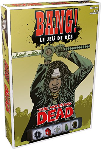 Bang ! Le Jeu de Dés : The Walking Dead - Asmodee - Jeu de société - Jeu de dés - Jeu à rôles cachés