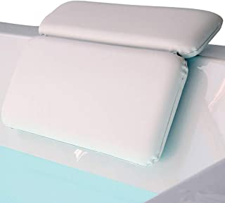 Gorilla Grip Original Spa Bath Pillow Features Powerful Gripping Technology, Comfortable, Soft, Large, 14.5x11 Inches, Luxury 2 Panel Design for Shoulder, Neck Support, for Hot Tub, Jacuzzi, White