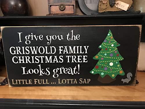 Toll2452 Griswold Holzschild für Weihnachtsbaum