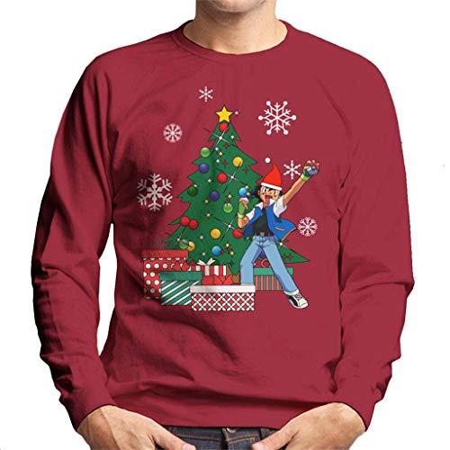 Ash Ketchum Around The Christmas Tree Men's Sweatshirt