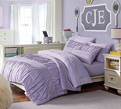 Victoria Classics JNH-BIB EC-PU Janet Bed in A Bag, Full, Purple