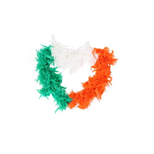 ST PATRICKS DAY IRISH FEATHER BOAS WITH TINSEL PERFECT FOR ANY ST PADDYS DAY FANCY DRESS PARTY FOR ADULTS AVAILBLE IN DIFFERENT QUANTITIES: 1X