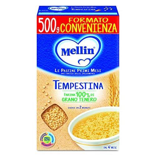 Mellin Pastina Tempestina, con Farina di Grano Tenero, 12 Confezioni da 500 gr