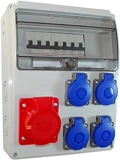 Baustromverteiler/Wandverteiler 4 x Schuko 230V/16A & 1 x CEE 16A/400V verdrahtet  LEGRAND LS