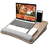 HUANUO Lap Laptop Desk - Portable Lap Desk with Pillow Cushion, Fits up to 15.6 inch Laptop, with Anti-Slip...