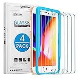 OMOTON [4 Pièces] Verre Trempé pour iPhone 7/8/6s/6 Film Protection Ecran, [Ultra Clair] Protecteur D'écran Compatible avec...