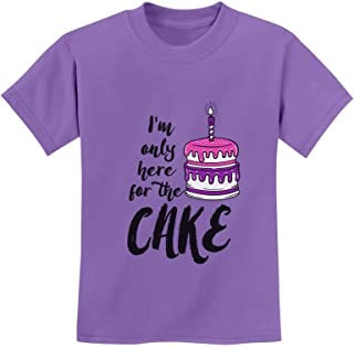 Birthday Party - I'm Only Here for The Cake Youth Kids T-Shirt