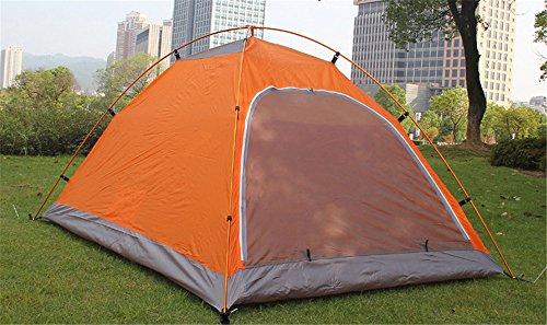 MONEYY Fournitures d'extérieur Aluminium Double Double-Porte Tente Camping Tente de Camping Pluie extérieur Couples 200 * 150 * 110 cm,b