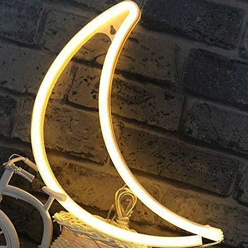 LED lune Néon Lumière Veilleuses - XIYUNTE lune Enseignes...