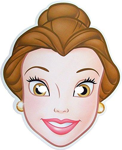 Disney Princesse Belle - Masque de Visage Fait en Carte Rigide - Produit Disney Officiel