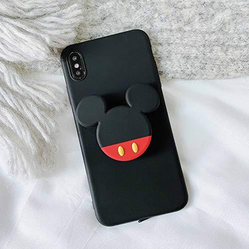 LUOKAOO 3D Cute Cartoo Soft Phone Hülle für iPhone X XR XS 11 Pro Max 6S 7 8 Plus Halter Abdeckung für Samsung S8 S9 S10 Hinweis, D, für S10