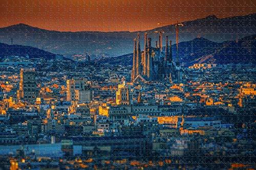 ジグソーパズル大人用1000ピース スペインサグラダファミリアバシリカバルセロナパズル旅行のお土産贈り物