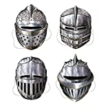 Beistle 66802 Knight Masks Party Accessory , Multicolored, 4-pcs   (1-Pack)