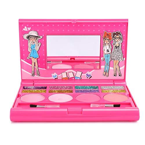 Zerodis Cosméticos para niños Maquillaje de Juguete Portátil Maquillaje para niños Cosméticos Caja de Juego Brillo de Labios Kit de Sombra de Ojos Regalo de niña(Juguete de Maquillaje)