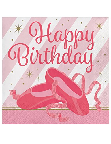 Twinkle Toes Napkin (L) Birthday 16ct [Contains 6 Manufacturer Retail Unit(s) Per Amazon Combined Package Sales Unit] - SKU# 322218