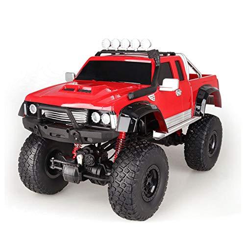 HGYYIO 140M/min Geländewagen, RC Monster Truck, 1: 8 Ferngesteuertes Auto, Alles Gelände 4WD RC Trucks, Mit LED-Licht, Ferngesteuertes Spielzeug für Kinder und Erwachsene,Rot