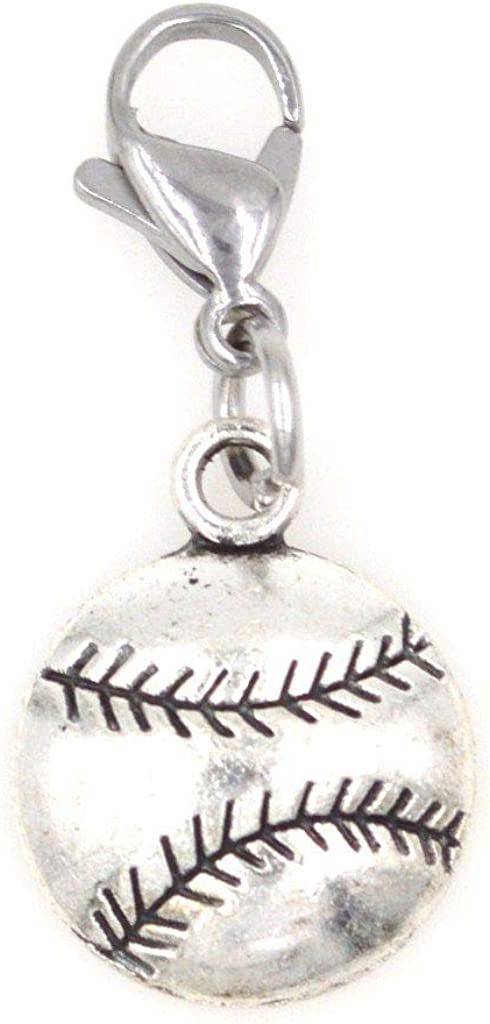 It's All About...You! Baseball Sports Clip on Charm Perfect for Necklaces Bracelets 103H
