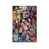 Poster Gravity-Falls Cartoon Leinwand-Kunstdruck und