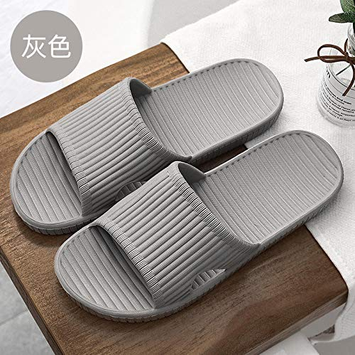 Wenhua Leichte Saunaschuhe,Summer Anti-Skid Massage Sandals for Household use, Bathroom Thick Bottom Silent and Non-Smelly Foot Slippers,-Gray V_36-37