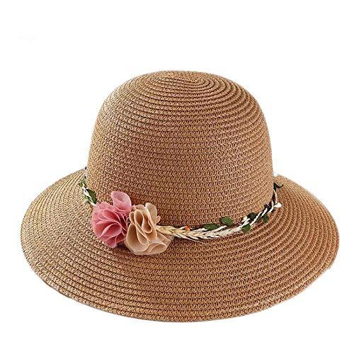 DöllSonnenhut Hut Summer Sun Hüte Für Frauen Groß Mit Bändern Bow Beach Hat Cap Damen Sonnenhut Uv Protect Travel Cap Damen Khaki