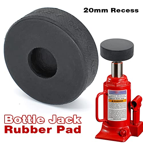 AUTOXBERT Bottle Jack Rubber Pad Anti-Slip Adapter Support Block Car Lift Tool for Most 2 Ton Bottle Jacks Jacking Points Universal Repair