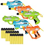 Liberty Imports Mini Foam Dart Blasters Multi Pack Party Favors (Set of 6)