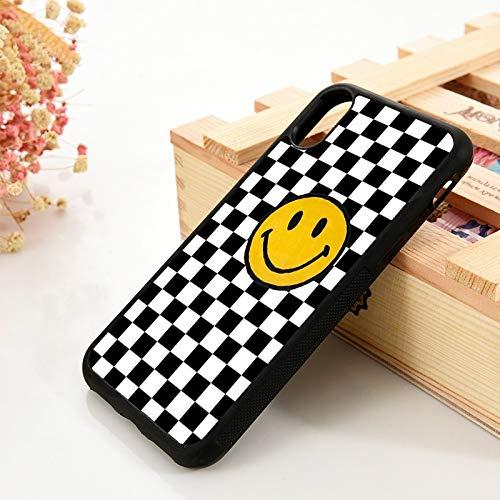 KKAAVV para 5 5S SE 6 6S TPU Funda de Silicona para teléfono para iPhone 7 8 Plus X XS 11 Pro MAX XR Smiley Checkerboard, para 11 Pro MAX