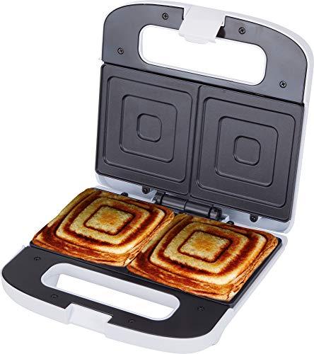 Jata SW219 Sandwichera para 2 Sándwiches XXL con Placas Antiadherentes Libre de PFOA Sellado Perfecto Almacenaje Vertical Tostado Rápido y Uniforme