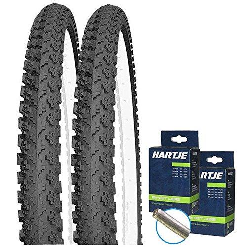 Set: 2 x Kenda K810 MTB Fahrrad Reifen 50-507 / 24x1.90 + Schläuche / 24