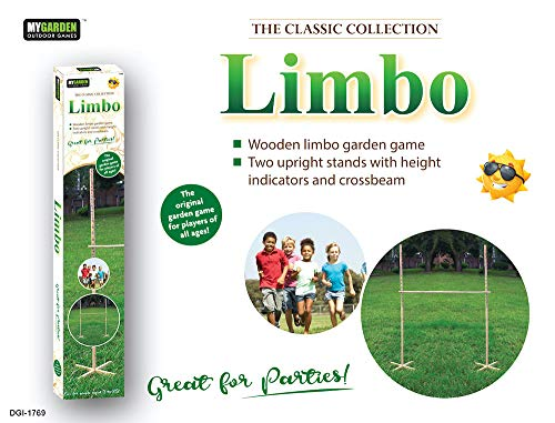 My Garden Wooden Garden Limbo Set for Adults and Kids – Indoor and Outdoor Limbo Game and Agility Set
