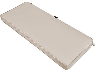 AAAAAcessories Outdoor Bench/Settee Cushion Water Resistant, 42 x 18 x 3 Inch, Beige