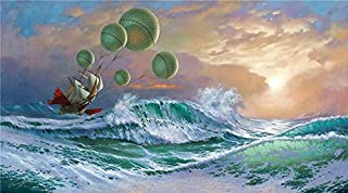 Artwu Michael Cheval,Flying Dutchman,2 Sizes Wall Art Home Wall Decorations for Bedroom Living Room Oil Paintings Canvas Prints-945
