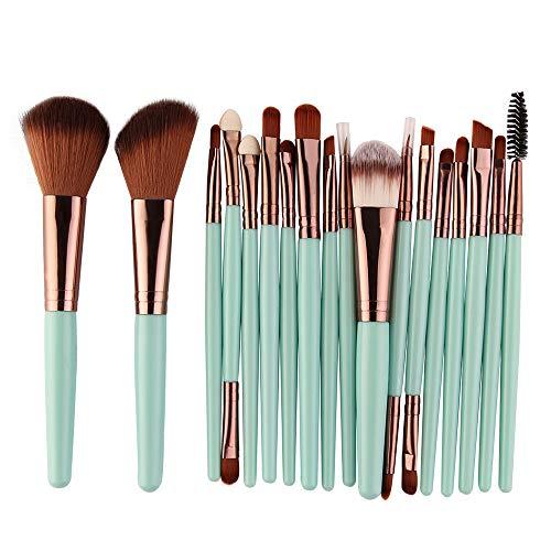 jkhhi 18 Pcs Pinceau De Maquillage Professional Premium Coloré Fibres SynthéTiques Blush Poudre Fards à PaupièRes LèVres Sourcils Visage Maquillage Outil Convient Aux DéButants