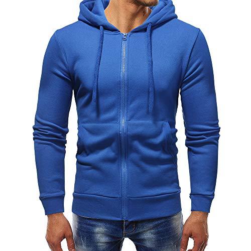 MIRRAY Herren Herbst Winter Langarm Casual Hoodie Pullover Reißverschluss Sweatshirt Outwear Tops