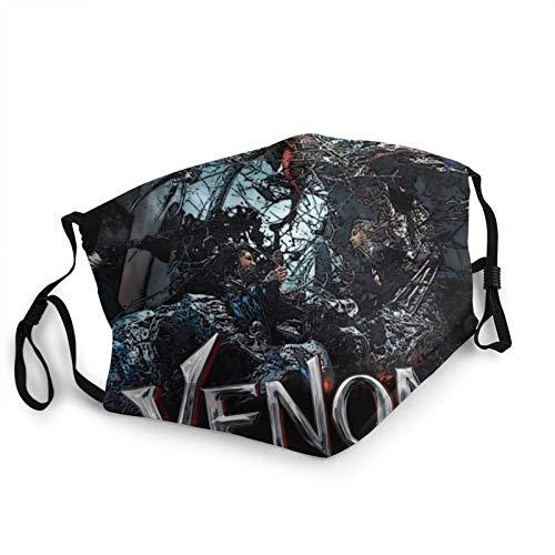 Venom - Máscara de borde negro para adultos, protección facial portátil, bandana, borde elástico, pasamontañas