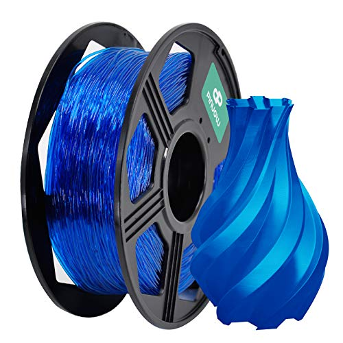Pinuotu 3D Flexible Printer Filaments, TPU Filament 1.75mm 0.8KG (2.2 lbs) Spool, Dimensional Accuracy +/- 0.03 mm, 100% Europe Raw Material (Blue)