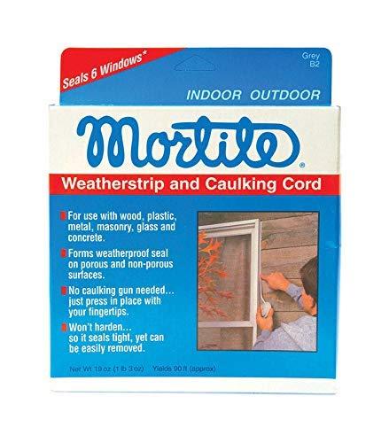 Thermwell Mortite Weatherstrip And Caulking Cord Gray