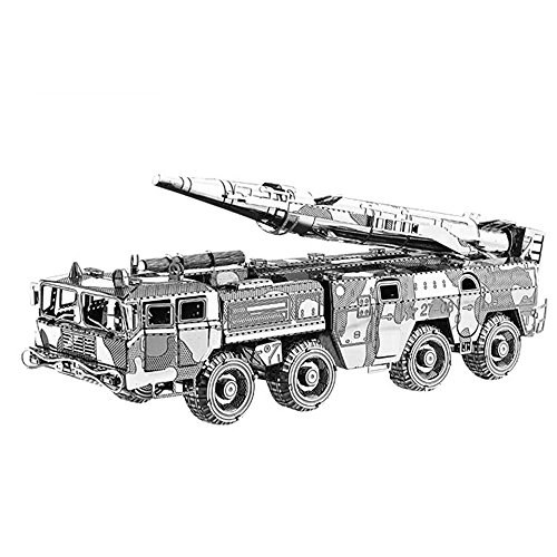 Moutu 2018 3D Metal Puzzle DF-11 Misiles Carrier Lancher Camión Modelo Kits I22211 DIY 3D Laser Cut Ensamble Jigsaw Toy