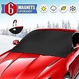 WEARXI Cubierta de Parabrisas de Coche para Invierno - Cubiertas Protectoras de Escarcha para Nieve Hielo, 6 Cubiertas magnéticas de Nieve para Parabrisas, Parasol Anti-UV para la mayoría de Auto