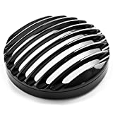 Krator 5 3/4' Headlight Light Grill Cover Compatible with Harley Sportster XL 883 1200 2004-2017 Iron 883 XL883N 2009-2018