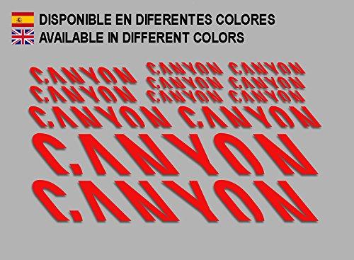 Ecoshirt QZ-L7PB-RE1K Aufkleber Canyon F157 Vinyl Adesivi Decal Aufkleber públicŸŸŸŸber MTB Stickers Bike, rot
