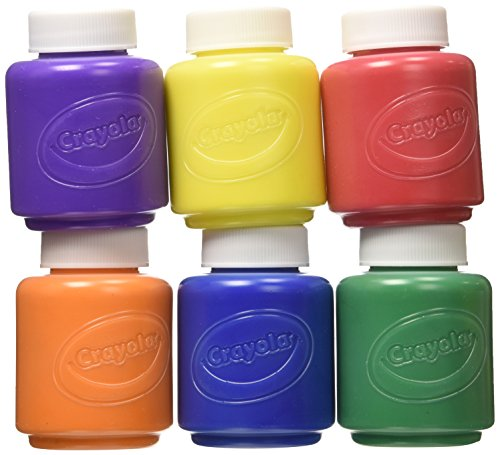 Crayola Kids Paint Washable, Assorted Colors, 6 Count (Pack of 2)
