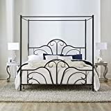 Hillsdale Furniture Hillsdale Dover King Canopy Bed, Textured Black