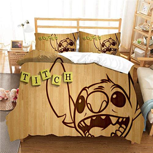 BOLAT - Juego de ropa de cama infantil con funda de edredón y funda de almohada (microfibra, estampado 3D, 220 x 240 cm)
