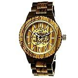 Holzwerk Germany - Reloj automático para hombre (fabricado a mano, madera ecológica, analógico), color marrón, dorado y negro
