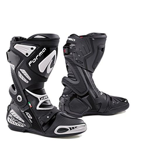 Forma forv Stivali Moto Ice Pro Flow omologata CE, Nero, 46