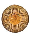 Dale Tiffany AV13108-D12 Handover Hand-Blown Art Glass Wall Décor Plate, 12-Inch, Orange/Amber