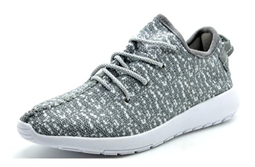 DREAM PAIRS 160431-W New Women's Lace Up Sport Light Weight Casual Fashion Sneaker Lovers Running Shoes Grey White-SZ-9